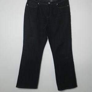 Chico's Platinum Black Bootcut sz 1 Short Jean